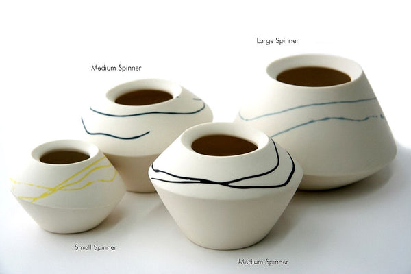 Porcelain Spinners with Strokes