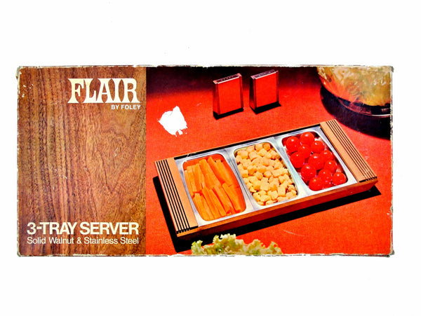 Foley Flair 3-Tray Server, NIB