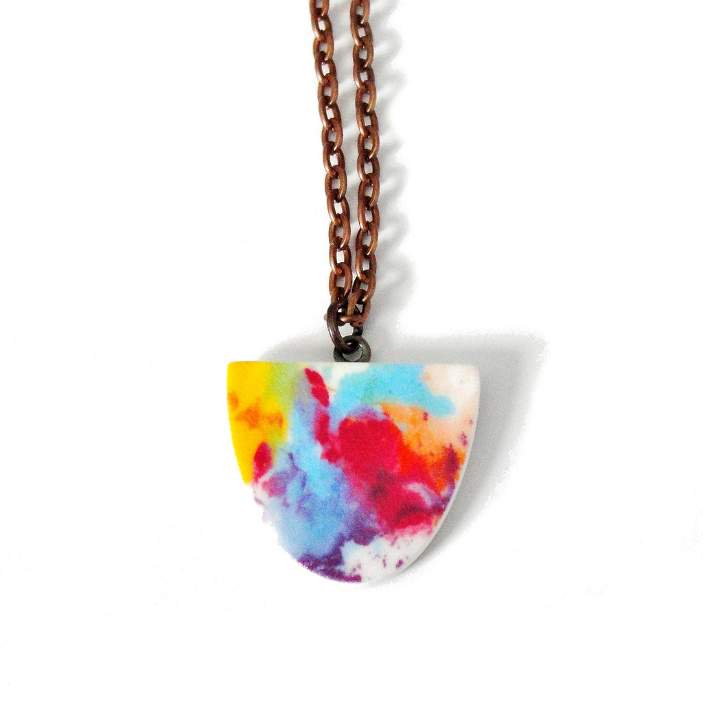 Watercolor Necklace