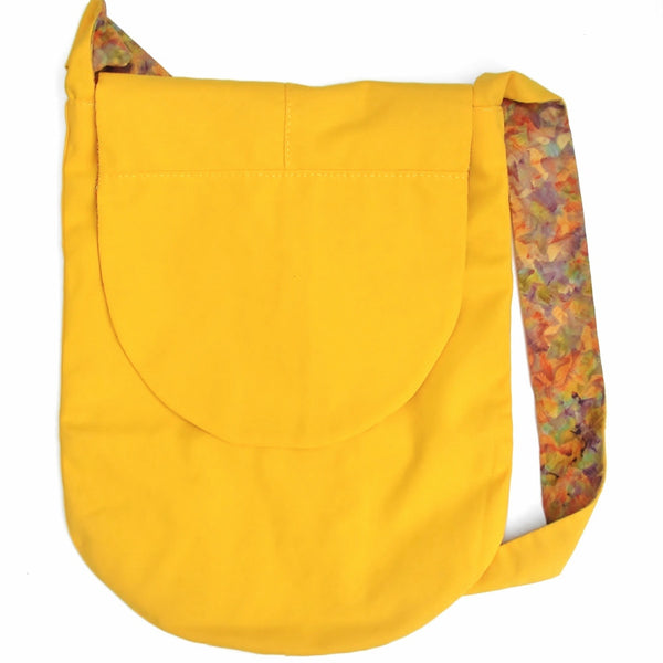 Reversible Yellow Canvas Bucket Bag