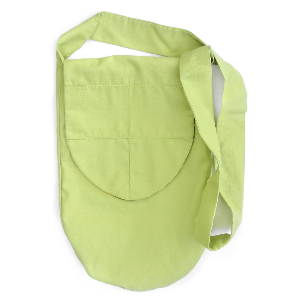 Reversible Green Canvas Bucket Bag