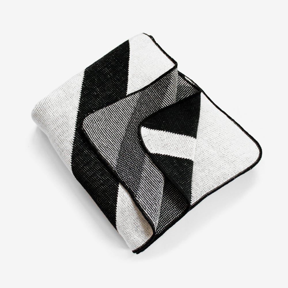 Diagonal Knit Throw