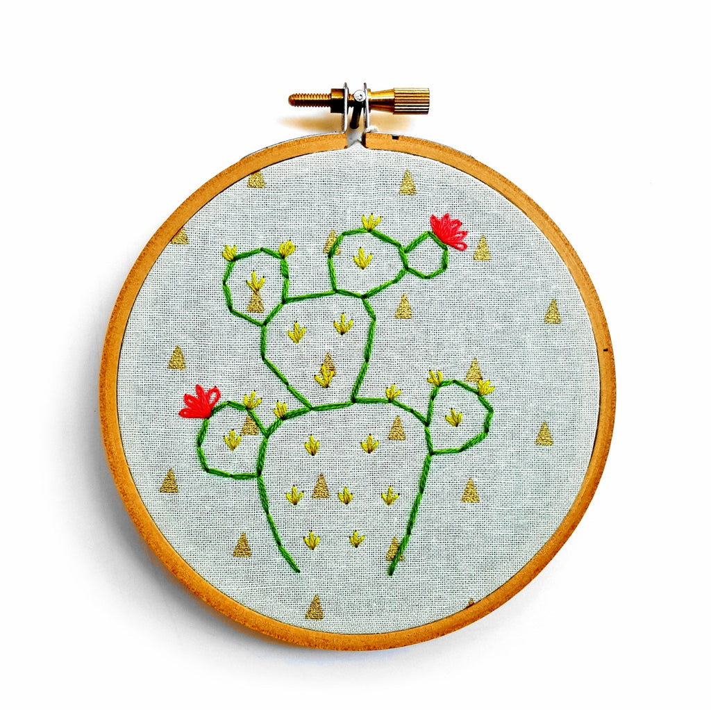 Cactus Embroidered Hoop By 622press Apartment 528
