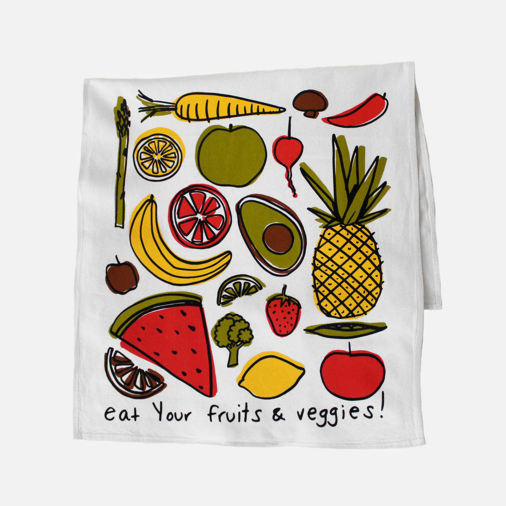 Fruits & Veggies Tea Towel