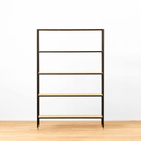 White Oak & Steel Shelving
