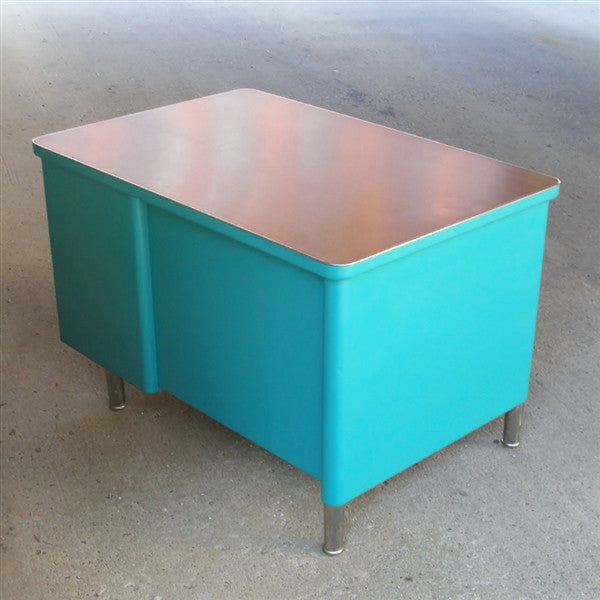 Teal Steelcase Tanker Desk