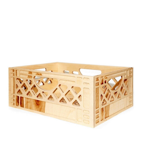 Wood Milk Crate - Long Short Stack