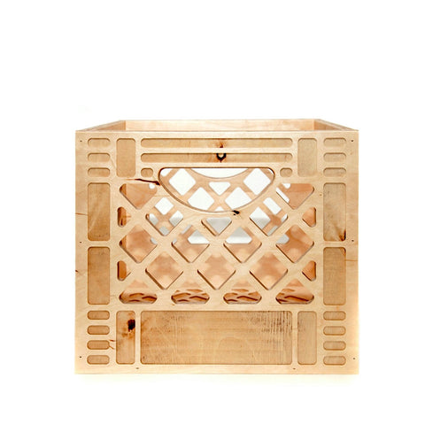Wood Milk Crate