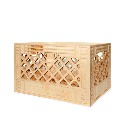 Wood Milk Crate - Long