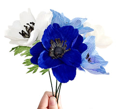 Paper Flowers: Anemones and Oriental Poppies - December 18th