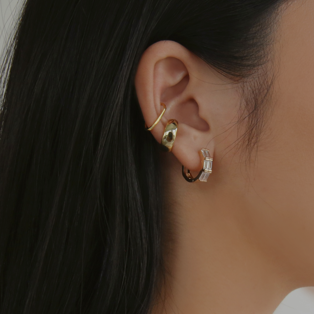 Gia Ear Cuff Set - Gold Vermeil