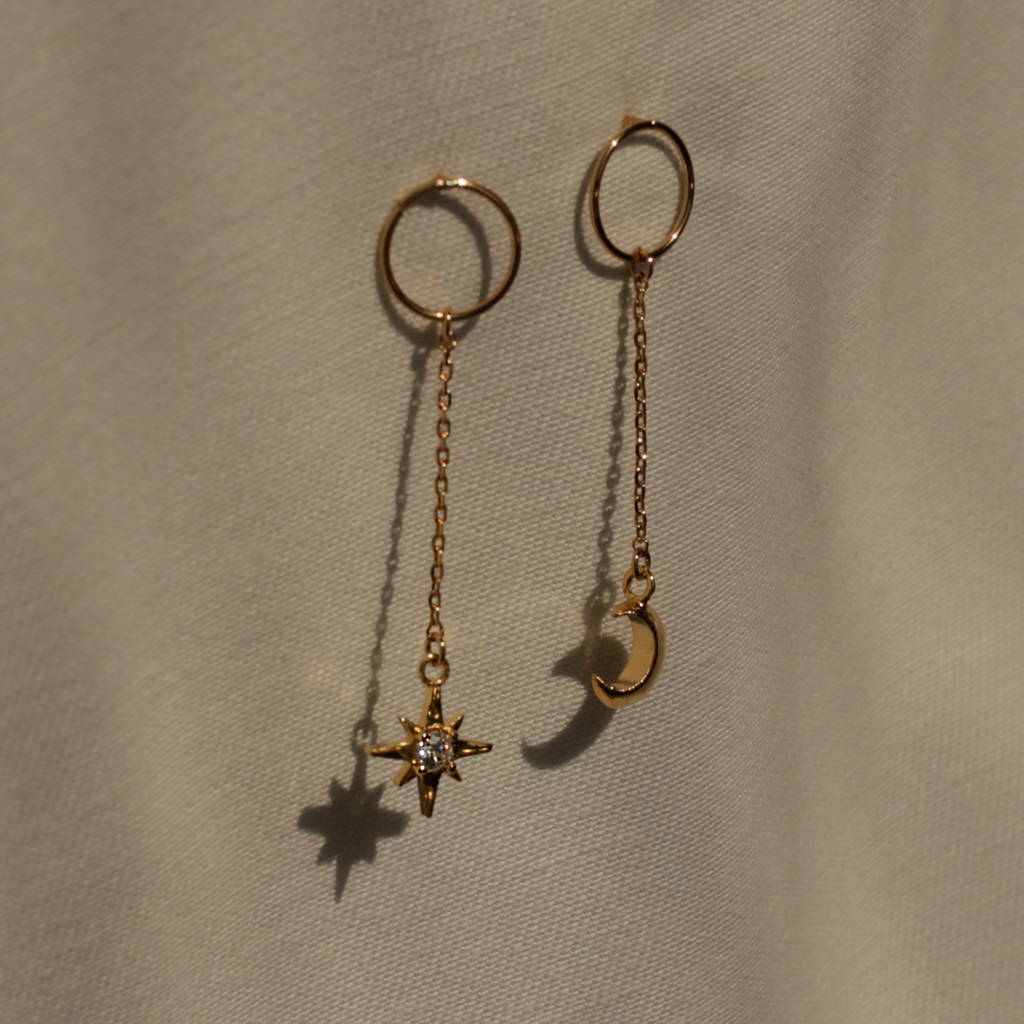 Until the Moon Meets the Star Earrings