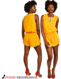 THE GOLDEN SPORTY ROMPER