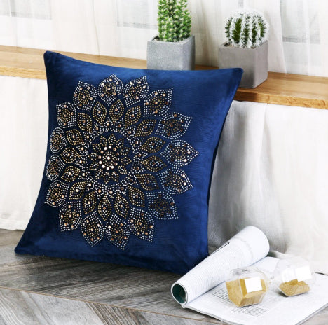 Navy Abu Dabi Throw Pillowcase