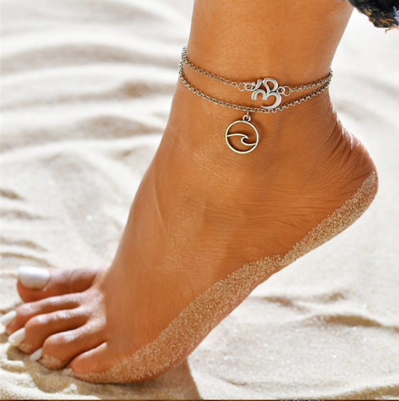 Wave Anklet Set