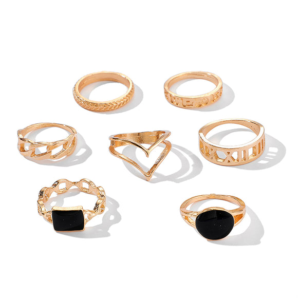 Black Ring Set