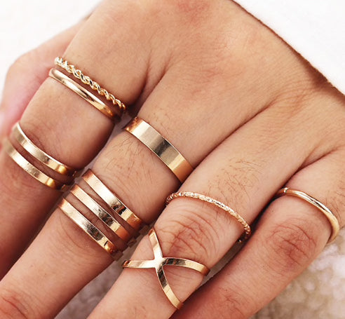 Edgy Ring Set