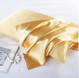 FP Bedding Gold Silk Pillowcase
