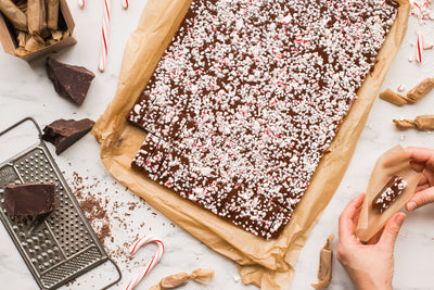Chocolate Peppermint Crunch Caramels