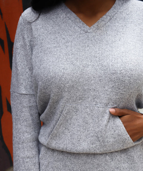 CITY pullover top in Grey Heather