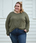 DELANCEY french terry top in Olive