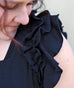 DOLLY square neck ruffle tank in Black