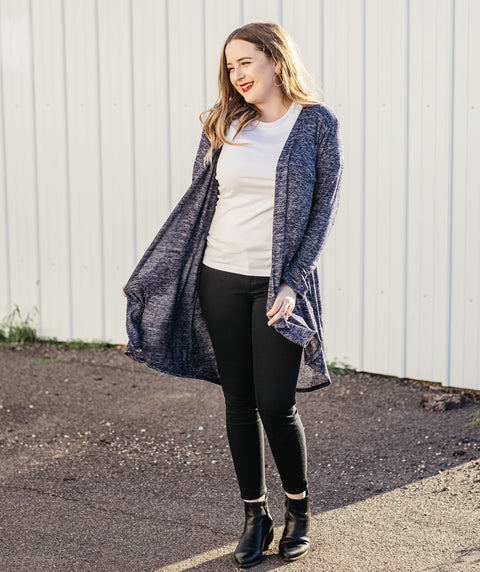 ERIN open cardigan in Navy