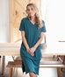 ERRAND tee-shirt dress in Teal Ocean