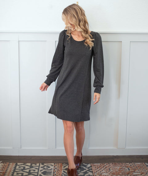 GETAWAY dress in Charcoal