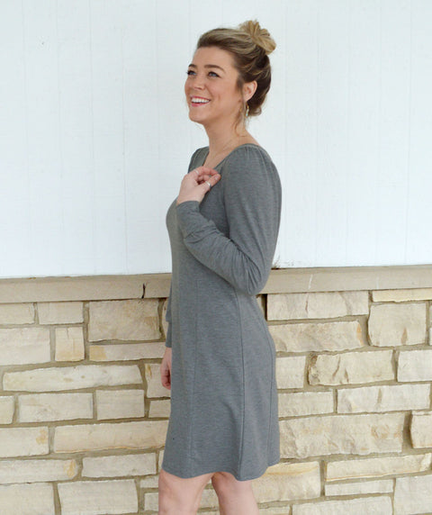 GETAWAY dress in Heather Grey