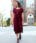 HEIGHTS midi dress in Burgundy
