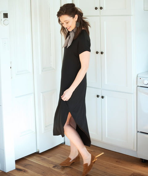 HEIGHTS midi dress in Black