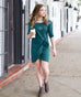 The JOANNA dress in Teal Ocean