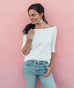 MADISON off shoulder top in White