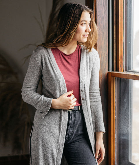MALIBU cardigan in Heather Grey