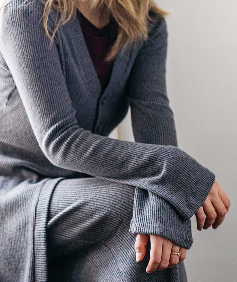 MALIBU sweater cardigan in Slate Grey