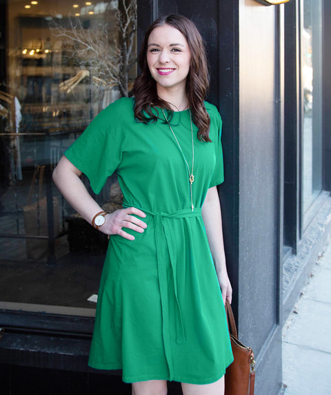 ROSA reversible dress/cardigan in Jade Julep