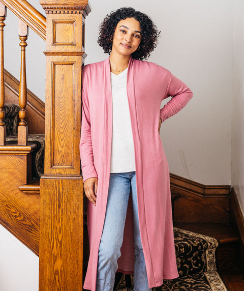 STROLL duster in Mauve Pink<br/>(Less than perfect)