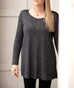YORK tunic in Black/Cocoa