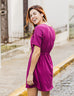 The SIENNA adjustable waist tunic dress in Boysenberry