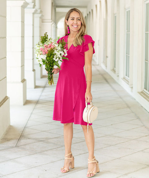 The PETUNIA dress in Azalea