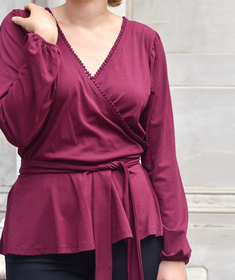 The GRETCHEN top in Deep Currant