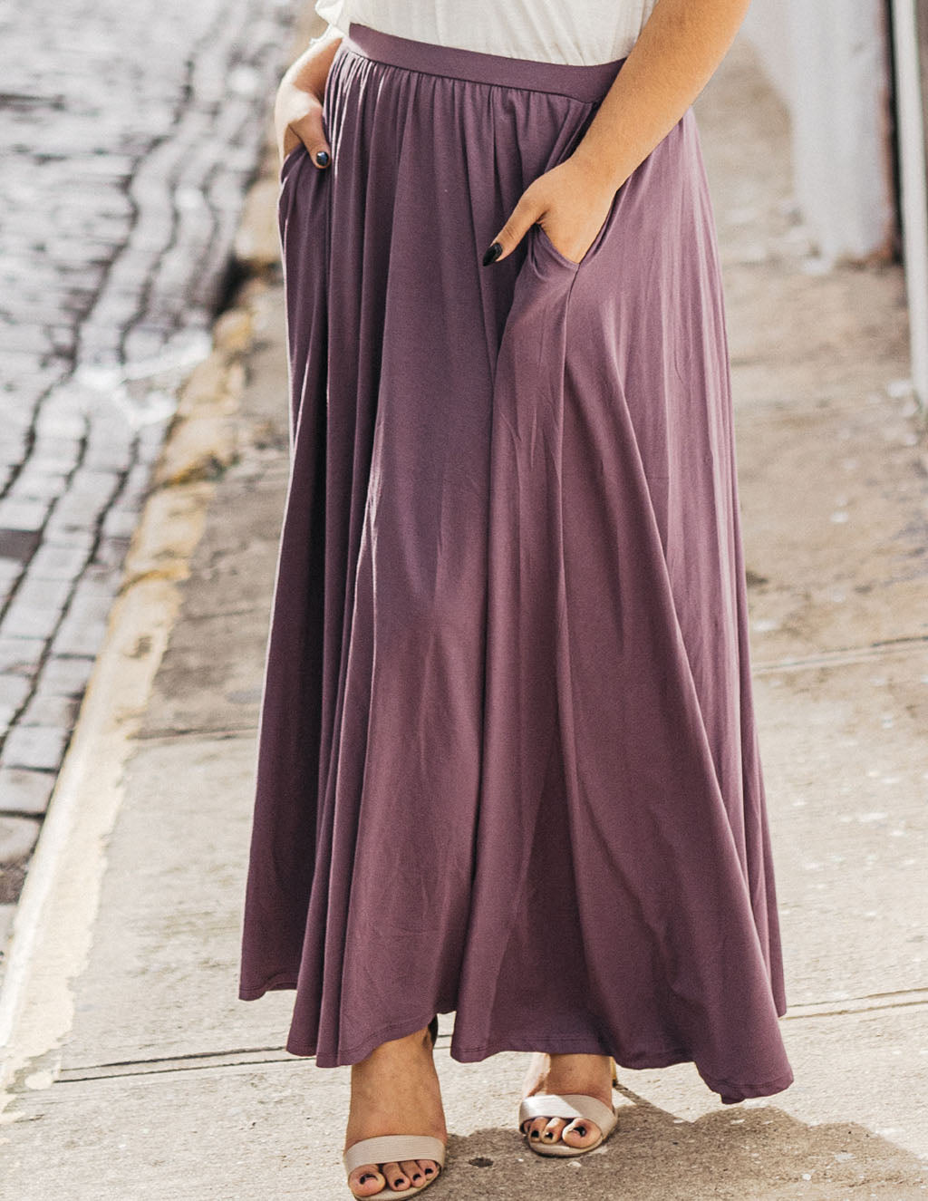 LEIGH maxi skirt in Vintage Violet