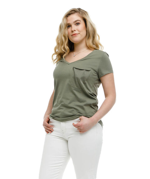 The ROSE tee in Olive