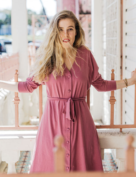 MOLLY reversible dress in Sunset Pink