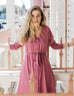 The MOLLY reversible dress/cardigan in Sunset Pink