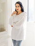 The TESSA gathered sleeve lightweight top in White