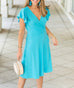The PETUNIA dress in Cerulean