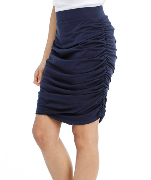 OPHELIA ruched skirt in Navy