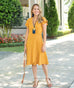 The PETUNIA dress in Mustard
